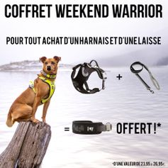 Coffret Weekend Warrior Harnais et Laisse + Collier assorti OFFERT !